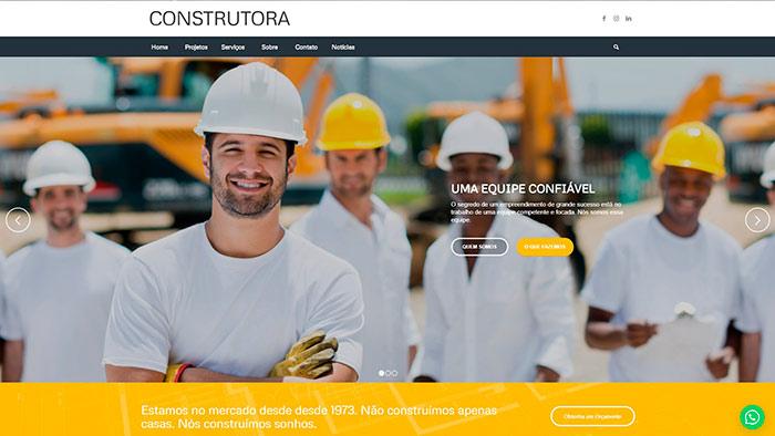 Site para Construtoras Tenil
