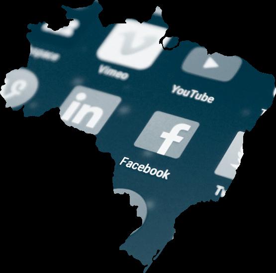 Mapa com Redes Sociais